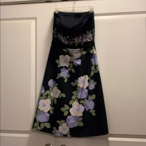 Loft strapless dress with embroidery
